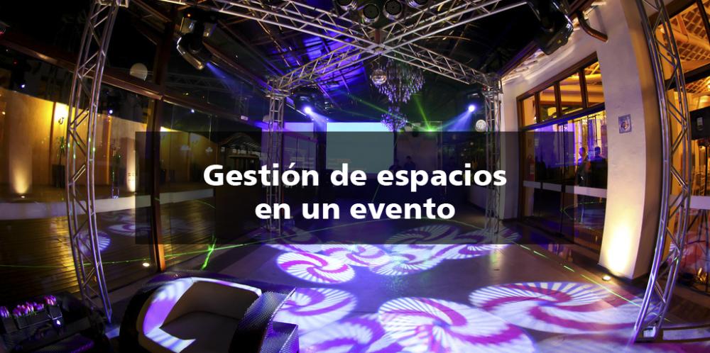 gestion espacios evento